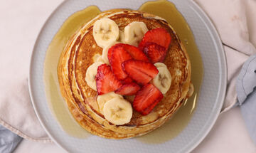 Απολαύστε αφράτα vegan pancakes