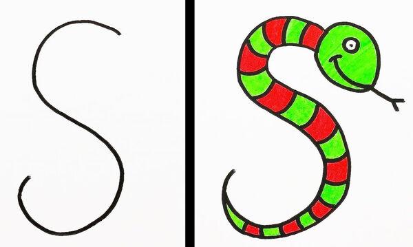 #Μένουμε σπίτι: Εύκολες ζωγραφιές για παιδιά με γράμματα (vid)