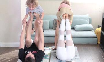 #Mένουμε_Σπίτι και γυμναζόμαστε οικογενειακώς - Επτά ασκήσεις που μπορείτε να κάνετε με τα παιδιά