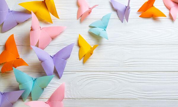 #Mένουμε_Σπίτι και φτιάχνουμε πεταλούδες από origami - Δείτε πώς (vid)