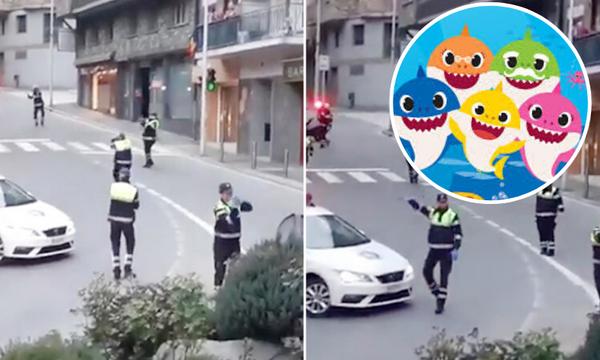 Κορονοϊός: Αστυνομικοί χόρεψαν το «Baby Shark» στους δρόμους για να κάνουν χαρούμενα τα παιδιά