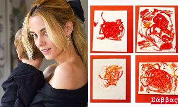 Γνωστές μαμάδες αποδέχτηκαν το challenge της Δ.Νομικού & δημοσίευσαν ζωγραφιές των παιδιών τους