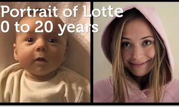 Απίθανο! Μπαμπάς έφτιαξε time-lapse βίντεο που δείχνει την κόρη του να μεγαλώνει (vid)