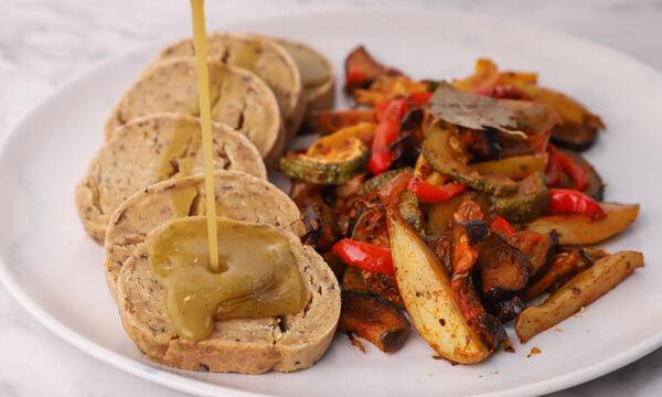 Ψωμί seitan με σάλτσα gravy - Δείτε πώς θα το φτιάξετε