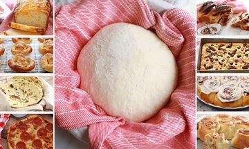 Πανεύκολη ζύμη με γιαούρτι για αλμυρές και γλυκιές συνταγές (vid)