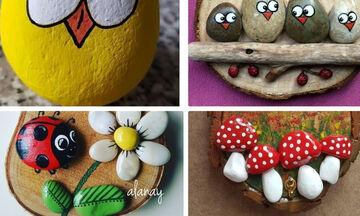 #Μένουμε_ σπίτι: Μοναδικές ιδέες για ζωγραφική πάνω σε πέτρες και βότσαλα (vid)