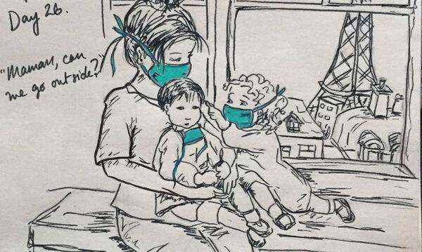 #Μένουμε_Σπίτι: Σκίτσα εμπνευσμένα από την καραντίνα που αξίζει να δει κάθε γονιός (pics)