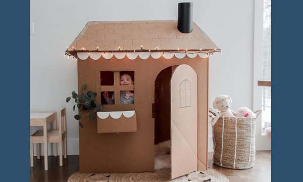 DIY - Φτιάξτε ένα σπιτάκι για τα παιδιά αξιοποιώντας τις χάρτινες κούτες που έχετε σπίτι (vid)