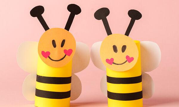 Τρεις εύκολες χειροτεχνίες με μελισσούλες από χαρτί - Φτιάξτε τις και εσείς (vids)