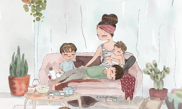 Σκίτσα που υμνούν τη μητρότητα σε όλο της το μεγαλείο (pics)