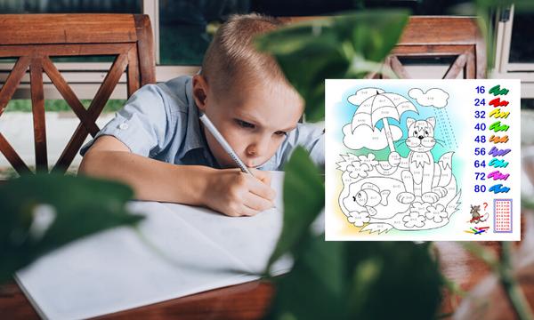 Μετρώ, ζωγραφίζω και μαθαίνω αριθμητική - Φύλλα εργασίας για παιδιά Δημοτικού (pics)