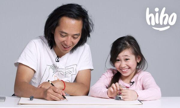 Ξεκαρδιστικό! Παιδιά περιγράφουν τους γονείς τους σε σκιτσογράφο - Δείτε το αποτέλεσμα (vid)