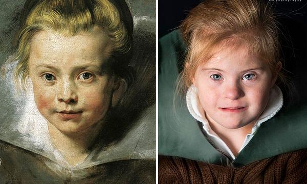 Απίθανο! Παιδιά με σύνδρομο Down μεταμορφώνονται σε πασίγνωστα έργα τέχνης (pics)