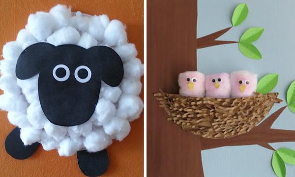 Χειροτεχνίες για παιδιά: Πέντε εύκολες κατασκευές με βαμβάκι (pics)
