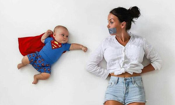 Μαμά βγάζει το μωρό της τις πιο ευφάνταστες και αστείες φωτογραφίες (pics)