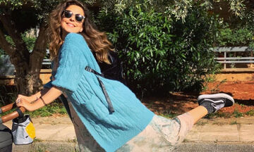 Όχι, θα κάτσει να σκάσει! Δείτε τι έκανε η Κατερίνα Παπουτσάκη με τους γιους της στο μπαλκόνι (pics)