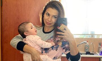 Ξετρελαθήκαμε! Ούτε που φαντάζεστε τι έβαλε η Ελένη Χατζίδου στο μπαλκόνι για την κόρη της (pic)