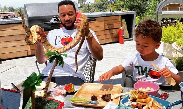 Chrissy Teigen-John Legend: Διοργάνωσαν ένα απίστευτο πάρτι με ερπετά για τον γιο τους, Miles