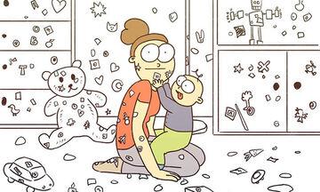 Απίθανα σκίτσα περιγράφουν πώς είναι η καθημερινότητα με ένα δίχρονο (pics)
