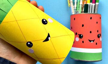 DIY - Φτιάξτε εντυπωσιακές καλοκαιρινές μολυβοθήκες από χαρτί (vid)