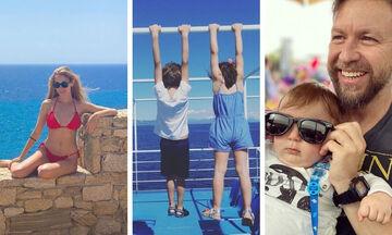 Όλα όσα έκαναν μέσα στο Σαββατοκύριακο οι διάσημοι Έλληνες γονείς (pics)