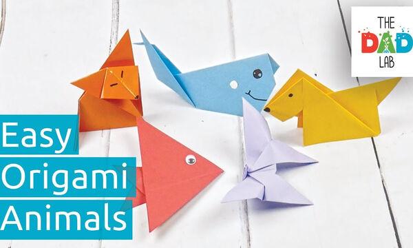 Χειροτεχνίες για παιδιά: Μάθετε να κάνετε ζωάκια με τη μέθοδο origami (vid)