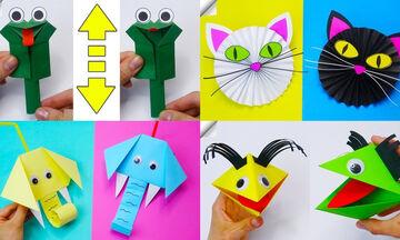Κατασκευές για παιδιά: Δείτε πόσα ζωάκια μπορείτε να φτιάξετε με χαρτί