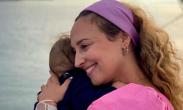 Κλέλια Πανταζή: Η απίθανη φωτογραφία του συζύγου της με τον γιο τους