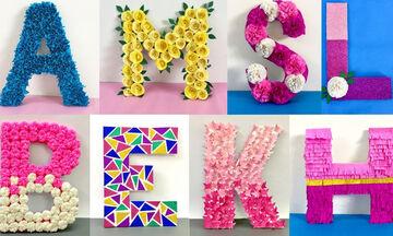 Παιδικό δωμάτιο: Όμορφες DIY ιδέες διακόσμησης με γράμματα (vid)