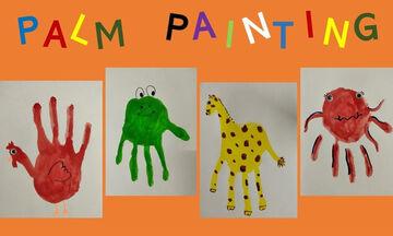 Ζωγραφική για παιδιά: Δείτε τι μπορείτε να φτιάξετε με την παλάμη σας