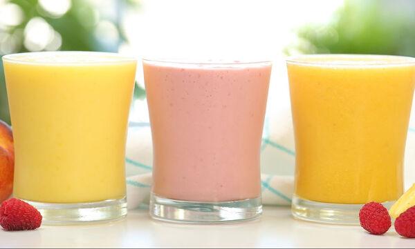 Τρία καλοκαιρινά smoothies για όλη την οικογένεια (vid)