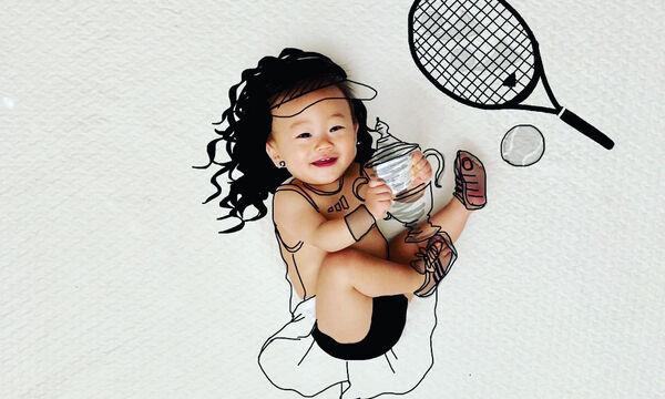 Μπαμπάς δημιουργεί τα πιο απίθανα σκίτσα με φωτογραφίες των παιδιών του
