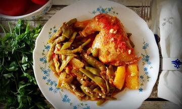 Η συνταγή για να φτιάξετε κοτόπουλο με φασολάκια