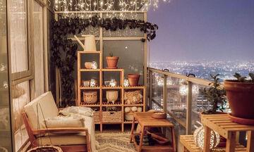 Ιδέες για να διακοσμήσετε τους τοίχους στο μπαλκόνι σας (pics)