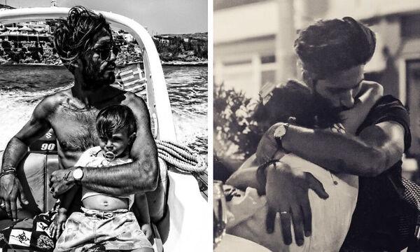 GNTM: Σπάνιες φώτο του Γιώργου Καράβα με τα δύο παιδιά του (pics)