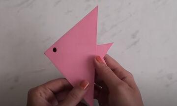Καλοκαιρινές χειροτεχνίες για παιδιά: Φτιάξτε ψαράκια από χαρτί σε 1 λεπτό