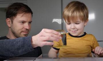Πειράματα για παιδιά: Δείτε τι μπορείτε να κάνετε με ένα ποτήρι νερό (vid)