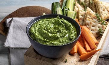Χούμους με σπανάκι - Διαιτητικό, γρήγορο, vegan & από τα χεράκια του Άκη