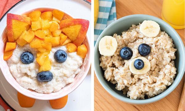 Πρωινό για παιδιά: 5+1 ευφάνταστα πιάτα με βρώμη που θα λατρέψουν