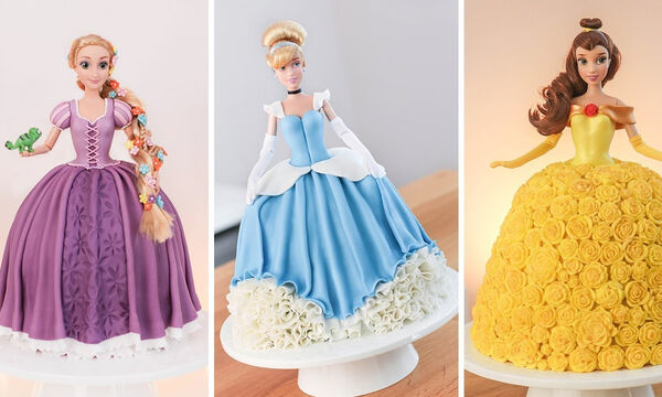 Φανταστικές τούρτες γενεθλίων με πριγκίπισσες της Disney (vid)