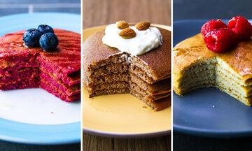 Επτά συνταγές για υγιεινά pancakes με λίγες θερμίδες