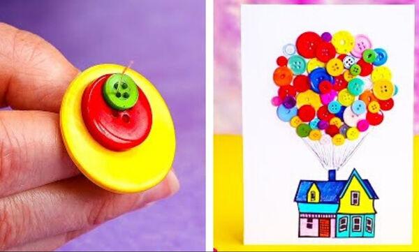 13 χειροτεχνίες με κουμπιά για μικρά και μεγάλα παιδιά (vid)
