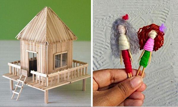 Δύο κατασκευές με οδοντογλυφίδες που θα ενθουσιάσουν τα παιδιά