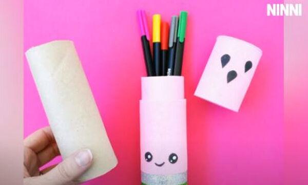 #BackToSchool: Φτιάξτε μία φανταστική μολυβοθήκη με ρολό από χαρτί υγείας