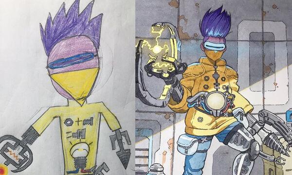 Μπαμπάς μετατρέπει τις ζωγραφιές των γιων του σε εντυπωσιακά animations