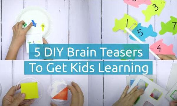 Πέντε αυτοσχέδια εκπαιδευτικά παιχνίδια για νήπια (vid)