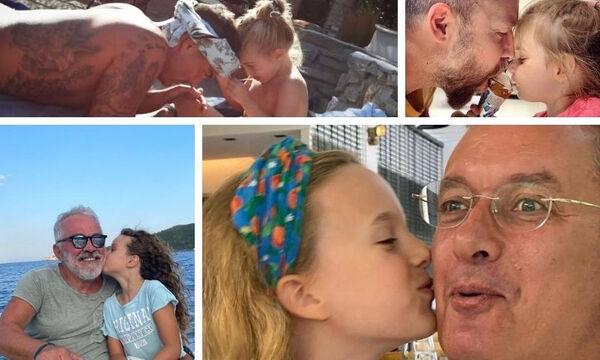 Διάσημες μικρές κόρες με αδυναμία στους διάσημους Έλληνες μπαμπάδες τους
