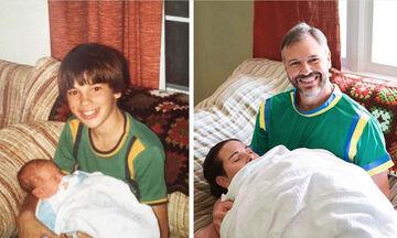 Αδέρφια αναπαριστούν παιδικές τους φωτογραφίες και είναι άκρως απολαυστικά