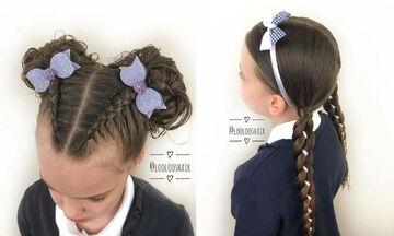 Εύκολα και όμορφα κοριτσίστικα χτενίσματα για το σχολείο (pics)