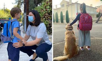 Πρώτη μέρα στο σχολείο: Τι ανέβασαν οι διάσημοι Έλληνες γονείς; (pics)